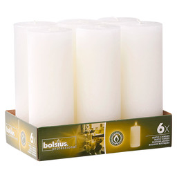BLOCK CANDLE RUSTIC WHITE 190/68