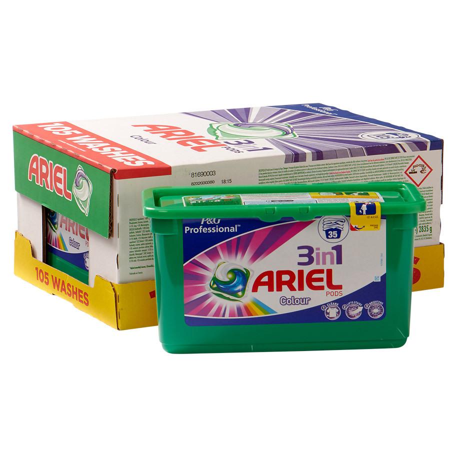 ARIEL 3-IN-1 PODS COLOR  35 PODS