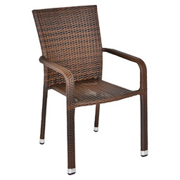 MODUS TERRACE CHAIR LEATHER FLAT WEAVING