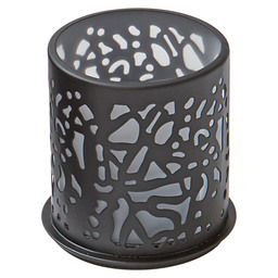 CANDLE HOLDER METAL 75X75MM TWINE