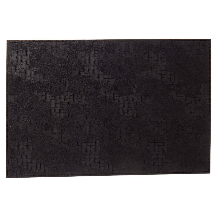 PLACEMAT LEATHER GARLIC BLACK 30X45CM