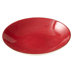 PLATE RUSTIC COUP DEEP 25CM RED