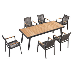 3801210 NOFI 3.0 DINING SET 7 TEAK