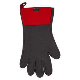 OVEN MIT NEOPRENE W/FINGERS BLACK / RED