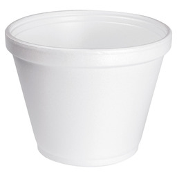 FOAM POT EPS 355ML WHITE