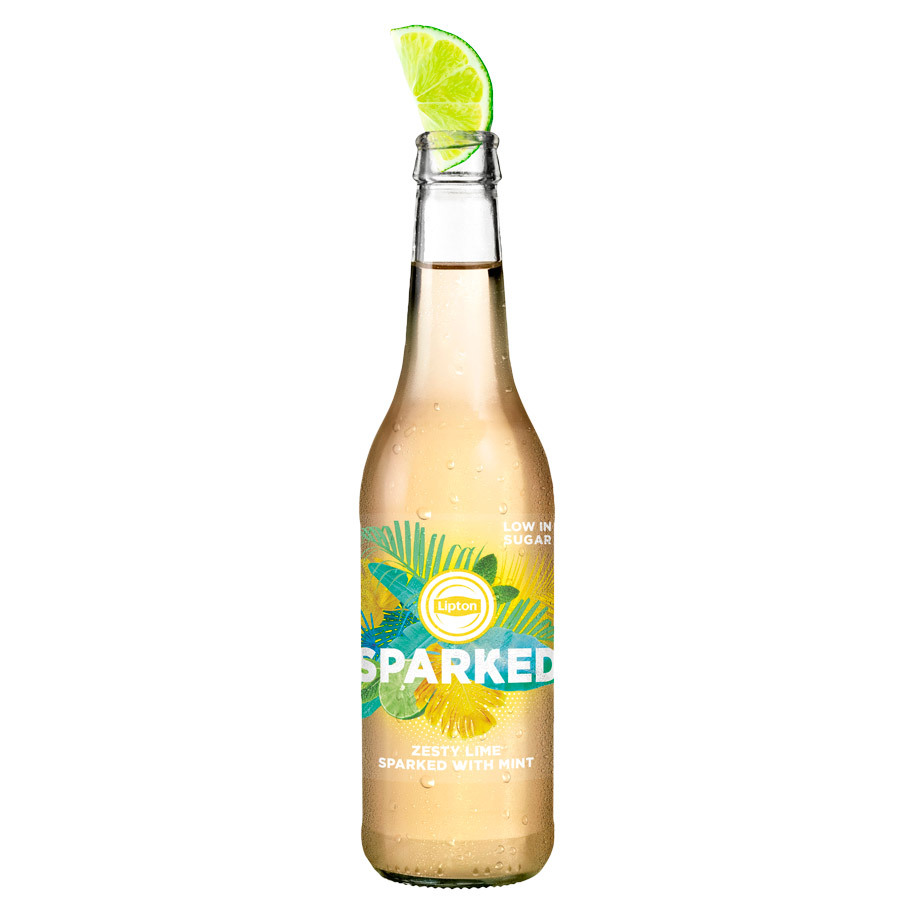 SPARKED ICE TEA GREEN LIME MINT 33CL