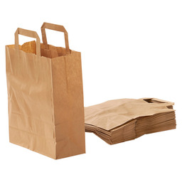 CARRIER BAG BROWN PAPER 22X10X28CM
