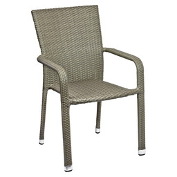 MODUS TERRACE CHAIR TAUPE FLAT WEAVING
