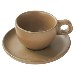COFFEE CUP AND PLATTER SURFACE GREEN