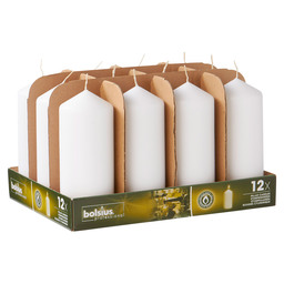 PILLAR CANDLES 17/7 TR12 WHITE