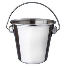 BUCKET WITH HANDLE SS 7X5 CM