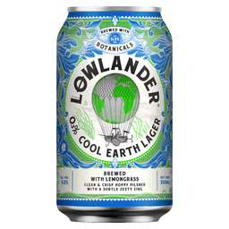 LOWLANDER COOL EARTH LAGER 0.3% 33CL