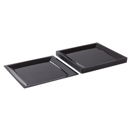 MILAN DINNER PLATE 235X235 MM BLACK