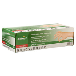 HANDSCHOEN LATEX PV WIT L SELECT