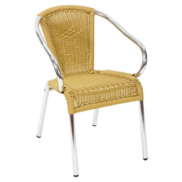 KANNET TERRACE CHAIR NATURAL - ALUMINIUM
