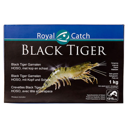 BLACK TIGER HOSO SHRIMP WITH HEAD 13/15