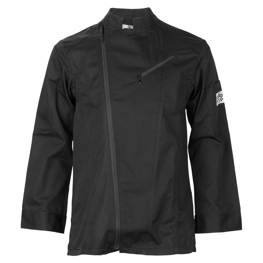 CHEF'S JACKET BIKER BLACK MT XS