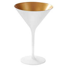 COCKTAILGLASS OLYMPIC WHITE / GOLD 24CL