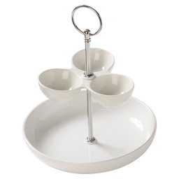 2 LAYER CAKE STAND DIP 12/17CM