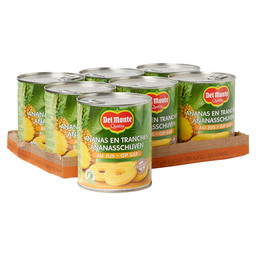PINEAPPLE SLICE ON JUICE 820GR DEL MONTE