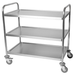 SERVING CART WELDED 3-LAAGS 94X50X92CM