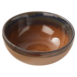 BOWL SURFACE 11X4,5CM GREY/RUSTBROWN