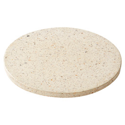 PLATEAU TERRAZZO ROND WIT 18CM