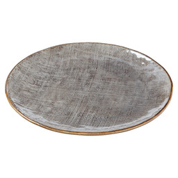 BORD INDY PLAT 26,1X26,1X2,5CM TAUPE