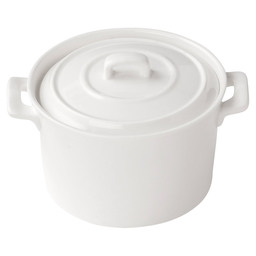CLIO POT WHITE 10X6 CM WITH LID