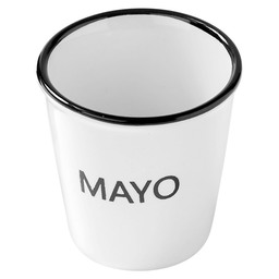 CUP WITH TEXT 'MAYO' D4.9XH4.9CM